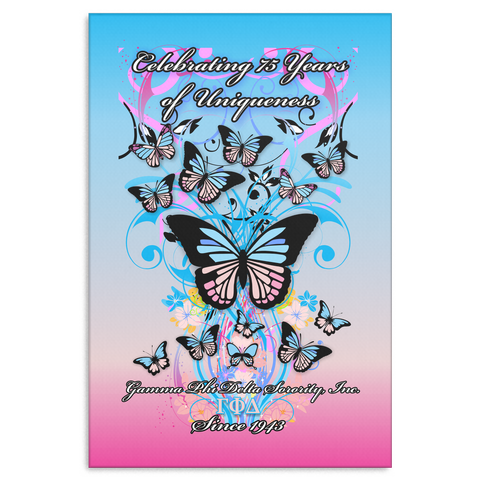 Gamma Phi Delta Butterfly Anniversary Gallery Wrap