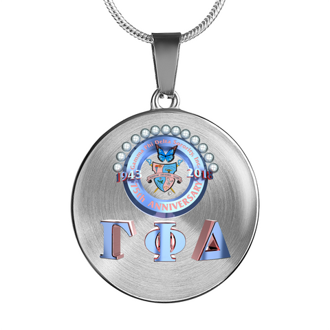 Gamma Phi Delta Sorority, Inc. Luxury Anniversary Necklace