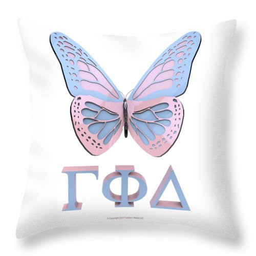 Gamma Butterfly Wings 3d - Throw Pillow