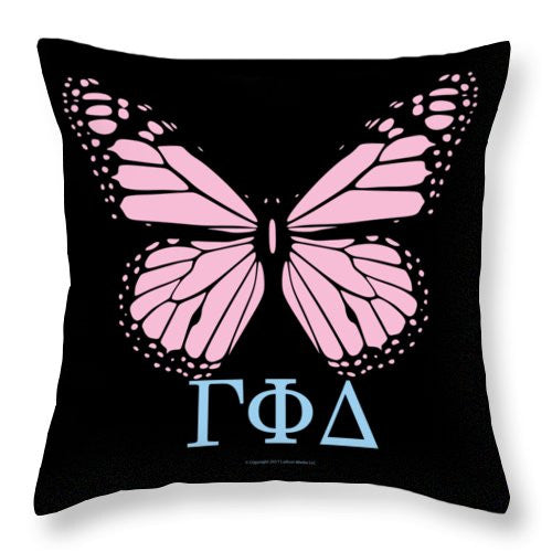 Gamma Phi Delta Classy Butterfly  - Throw Pillow