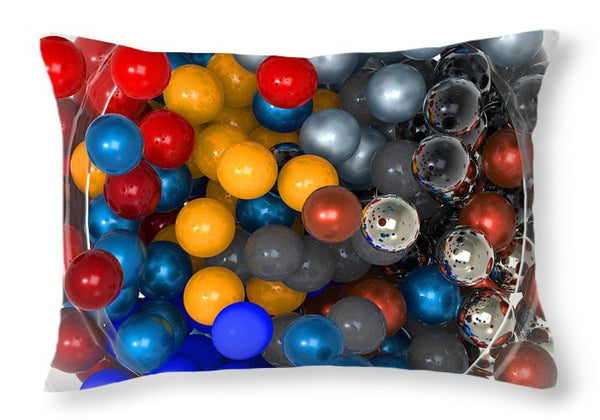 Marbles At Rest - Throw Pillow
