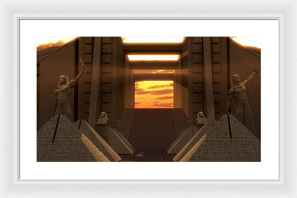 Sunset At The Temple - Framed Print