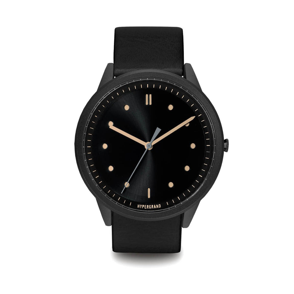 02 Nato Watch - Black Vintage w/ Black Classic Leather