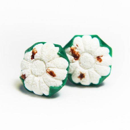 Kueh Tutu Stud Earrings