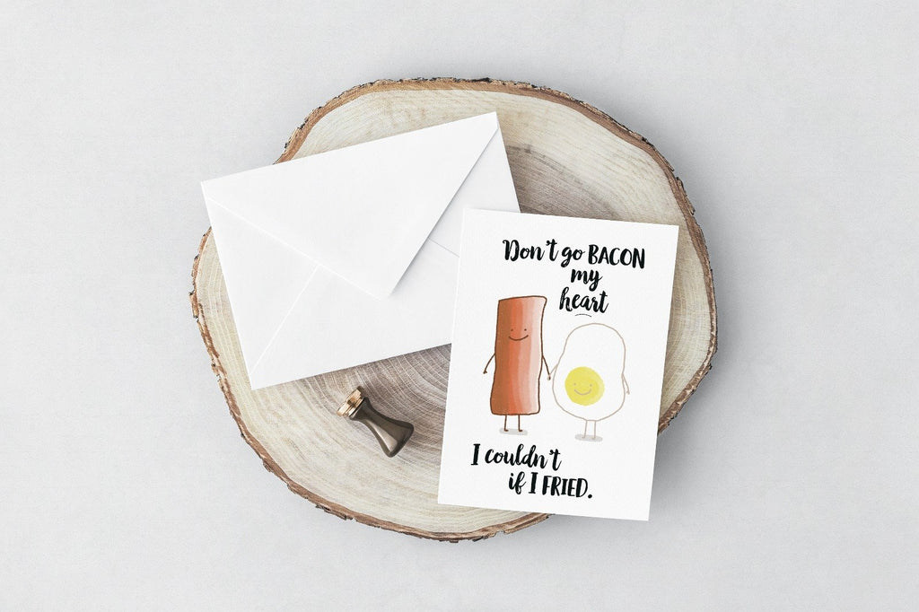 Bacon My Heart Greeting Card
