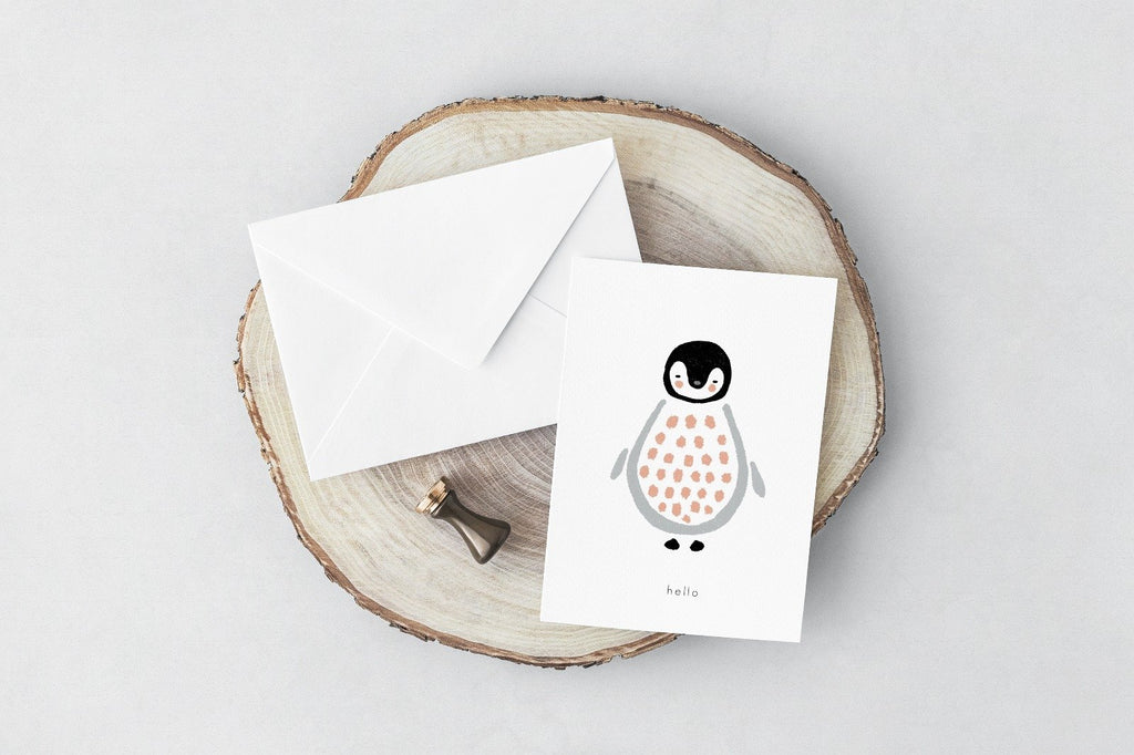 Hello Penguin Greeting Card