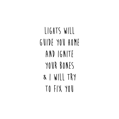 Fix You Temporary Tattoo