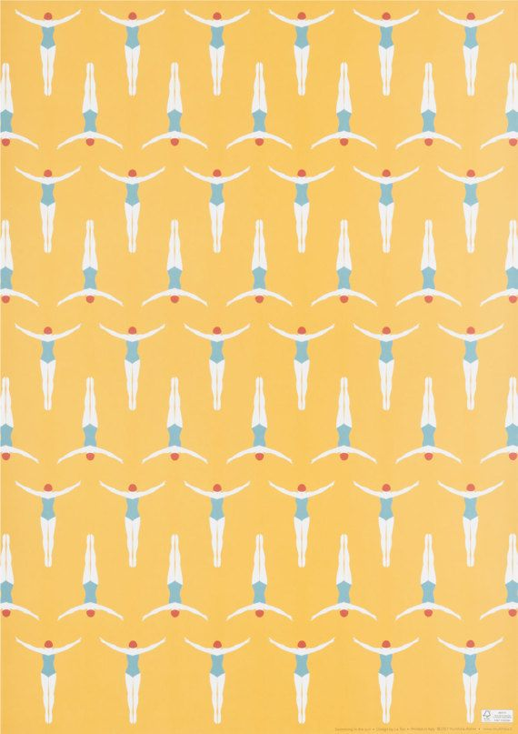 Swimming in the sun Wrapping Paper