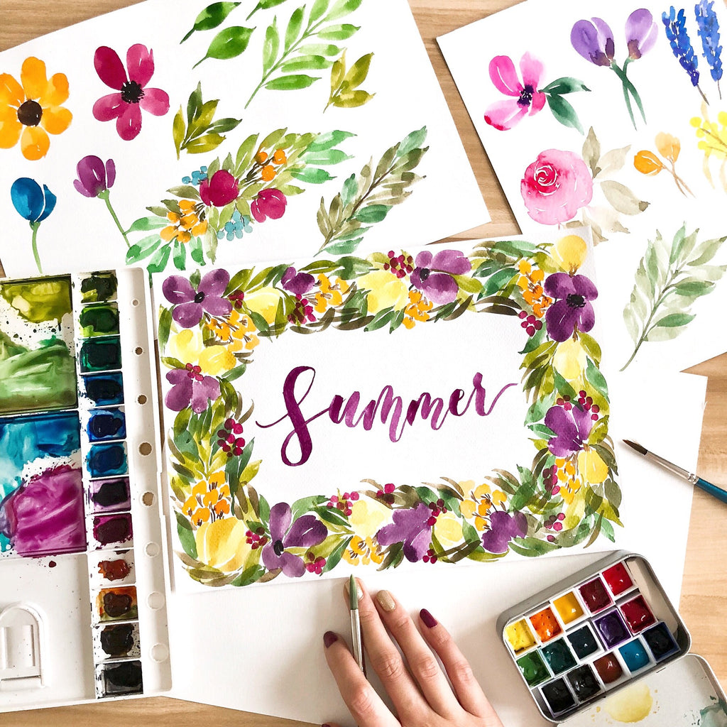 Floral and Leaves Watercolour Workshop | 15 Sep 2018 | 1pm