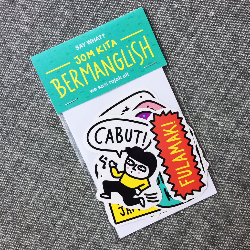 Manglish Stickers / Set B