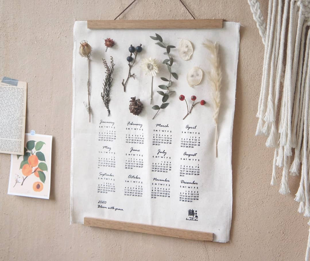 2020 Canvas Dried Flower Calendar