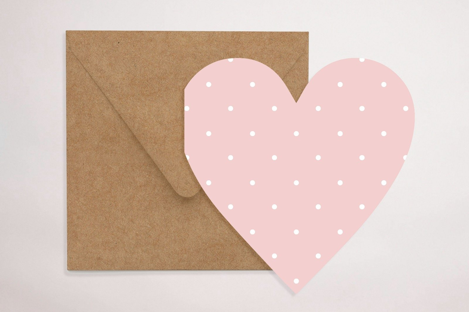 Pink Loveheart Greeting Card