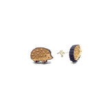 Adorable Hedgehog Laser Cut Wood Earrings