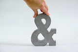 Ampersand Concrete Decor