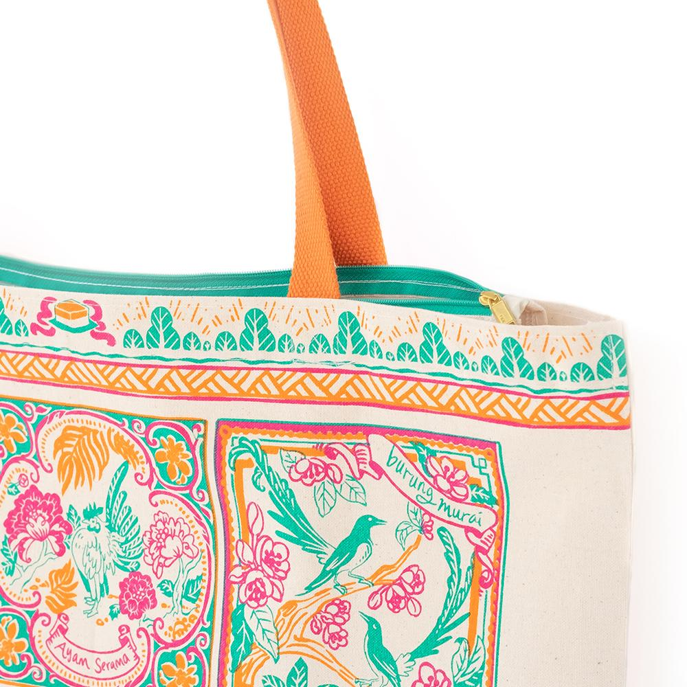 Peranakan Tiles Tote Bag