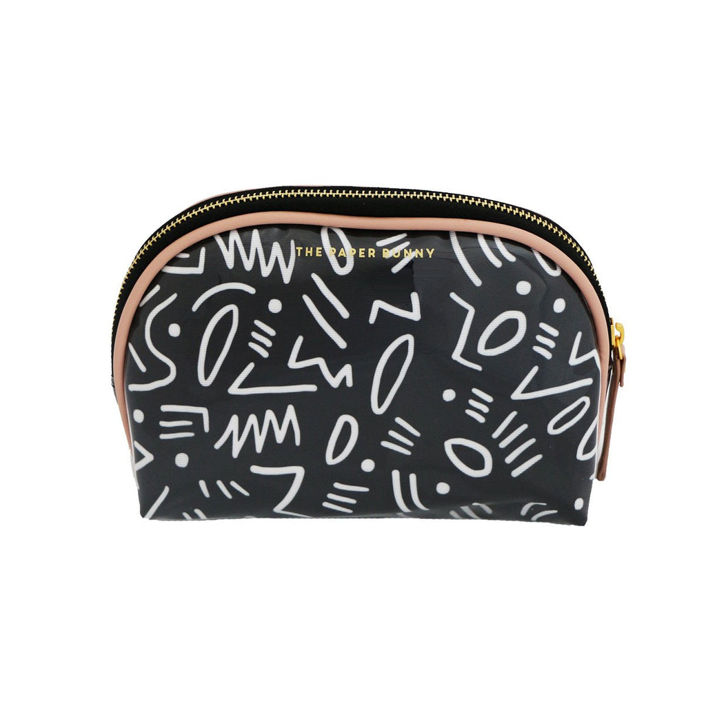 Black Graffiti Pouch