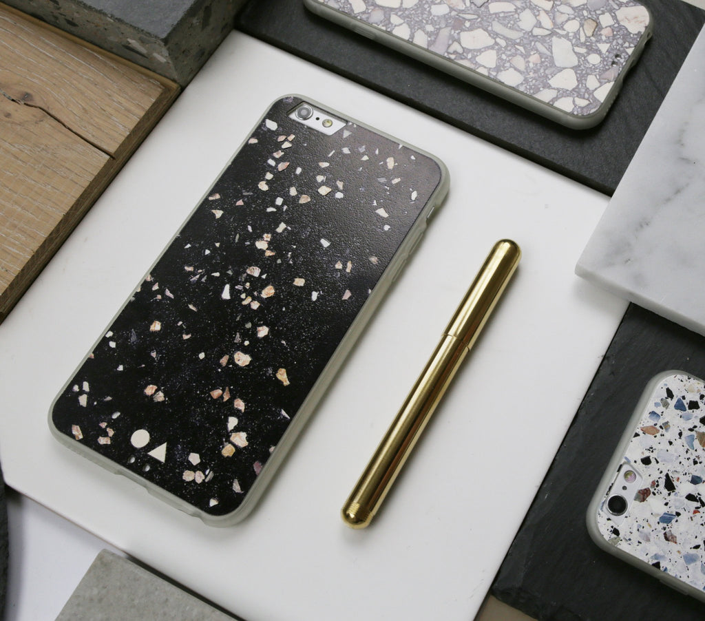 Black Terrazzo iPhone Case - iPhone 6s Plus