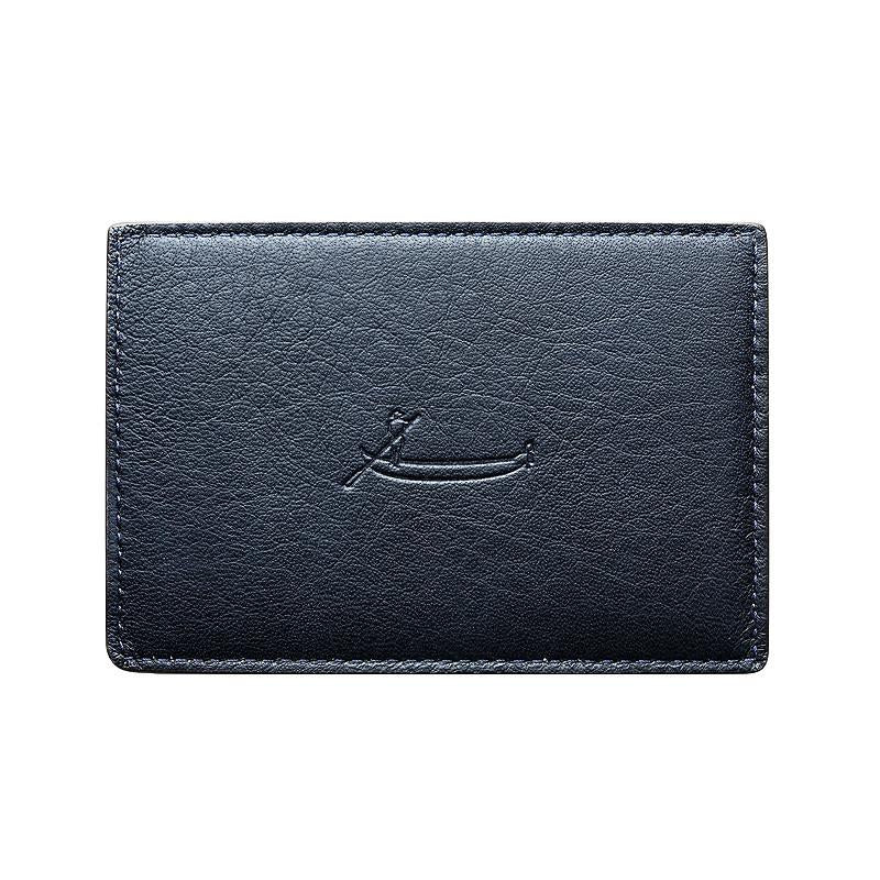 Audace Card Holder - Abyss/Rubino