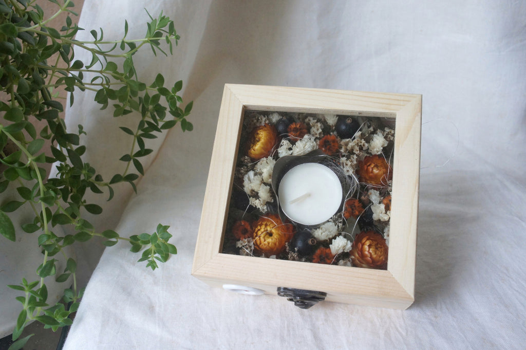 Dried Flower Candle Box