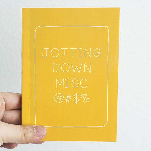 Statement Notebook - Yellow