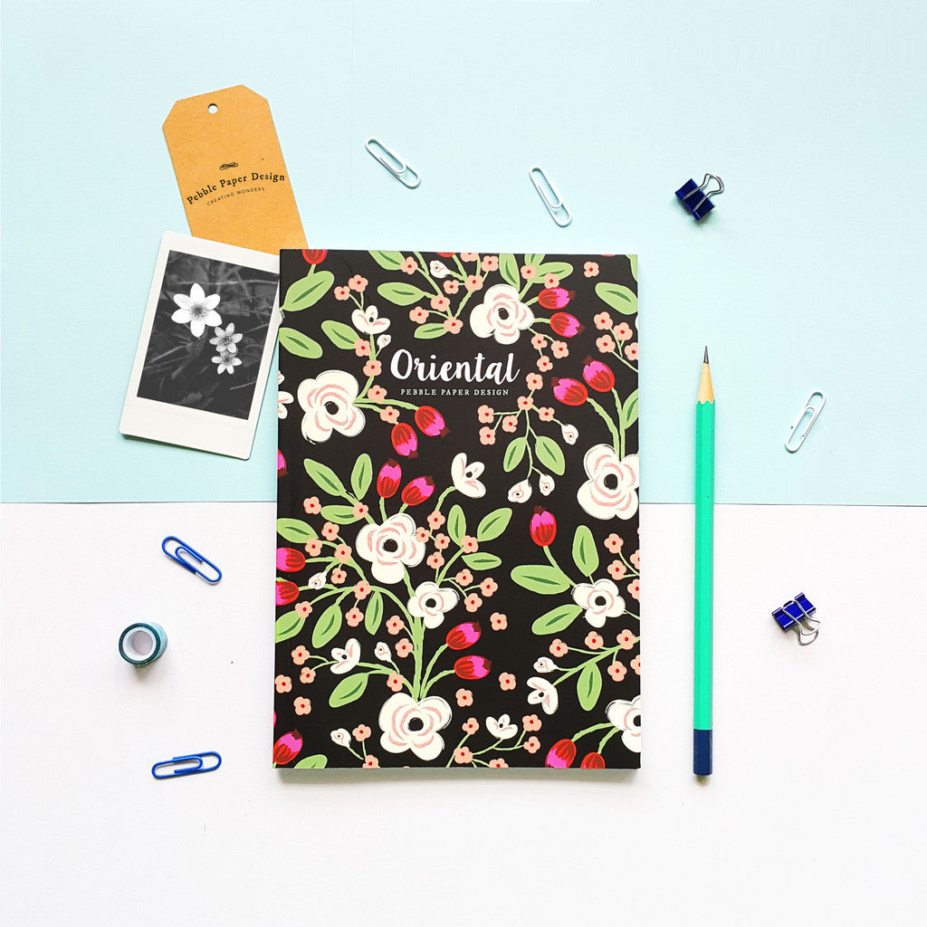 Exotic Floral Notebook