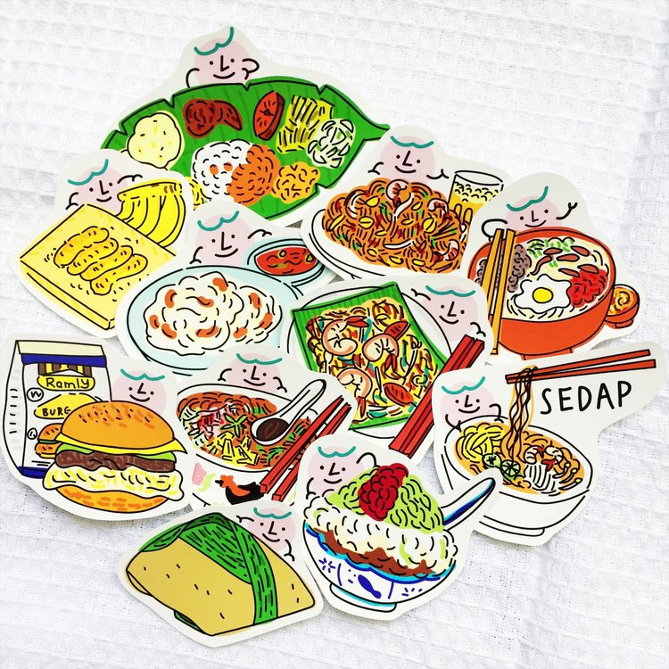 Malaysia Sedap Local Food Sticker Pack