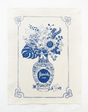Flourish Tea Towel - Blue