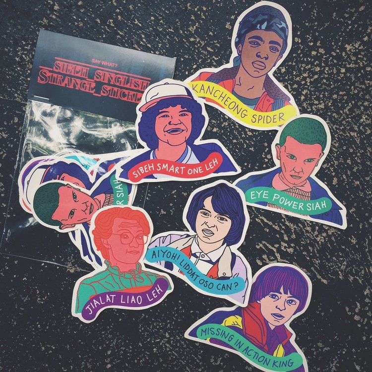 Stranger Things Singlish A Sticker Pack