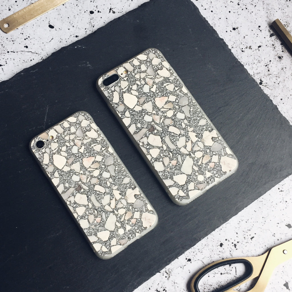 Grey Terrazzo iPhone Case - iPhone 7