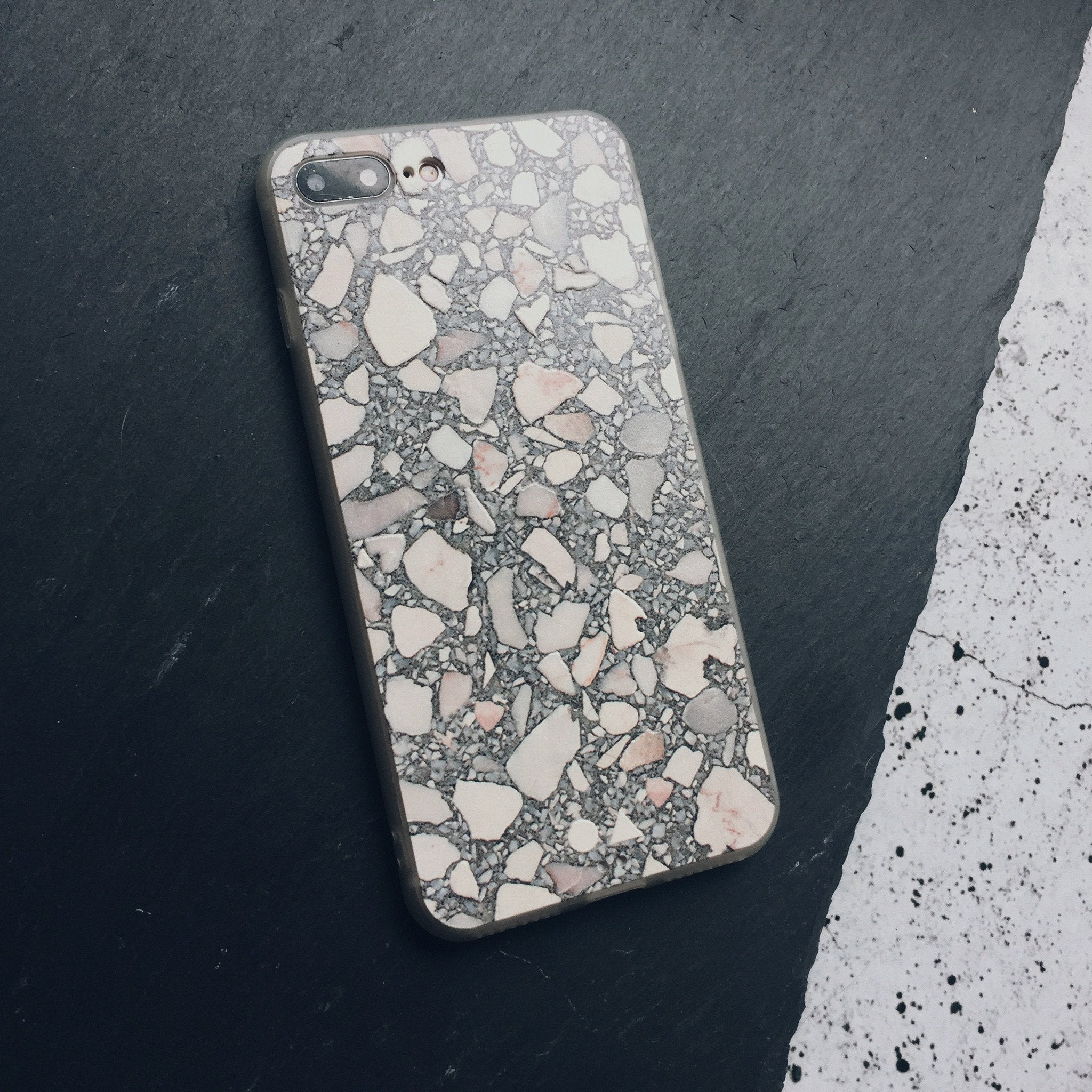 Grey Terrazzo iPhone Case - iPhone 7 Plus