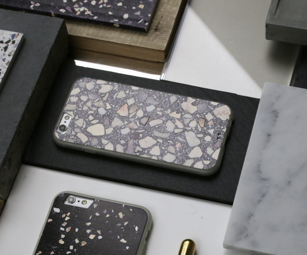 Grey Terrazzo iPhone Case - iPhone 6s Plus