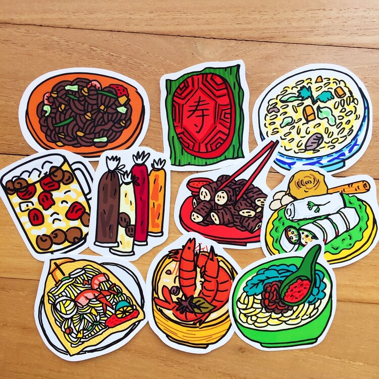 Hokkien Food Sticker Pack