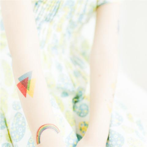 Geome-three Temporary Tattoo