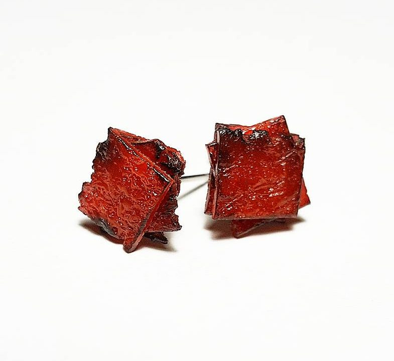 Bak Kua (肉干) Stud Earrings