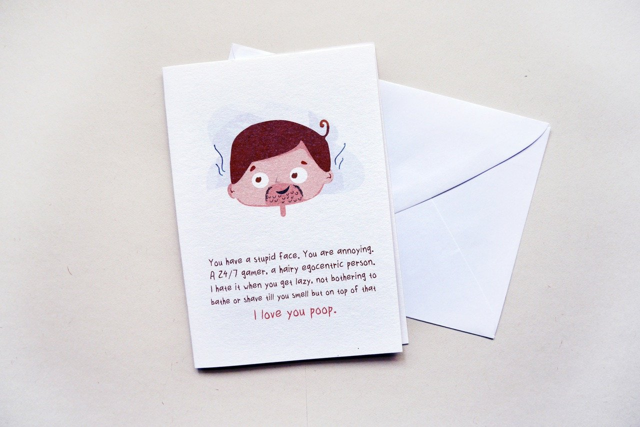 I Love You Poop Card