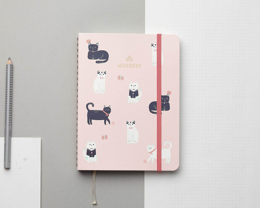 Cats Pink A5 Notebook