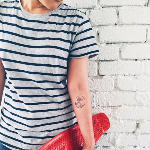 The Great Wave Temporary Tattoo