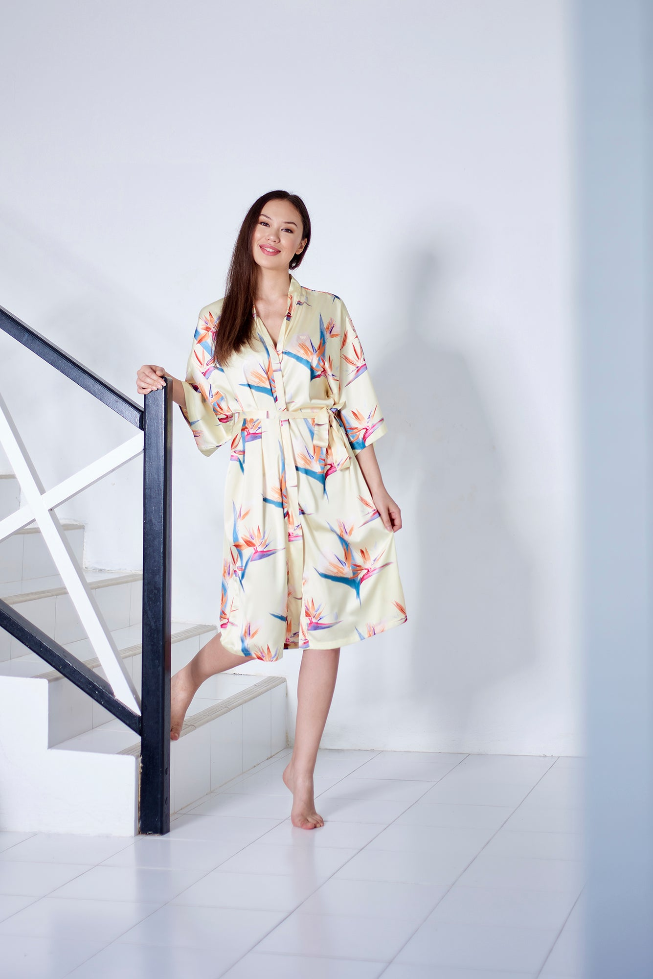 Birds of Paradise Midi Robe