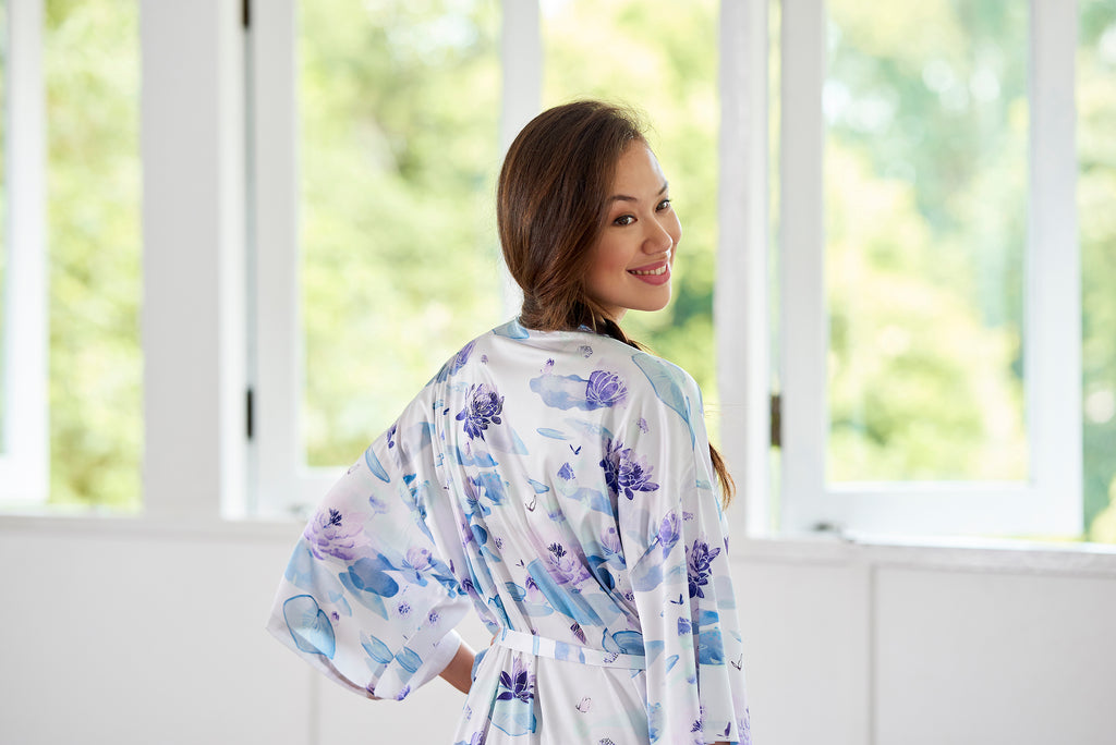 Lotus Flower Midi Robe