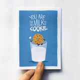 Milk and Cookie Card
