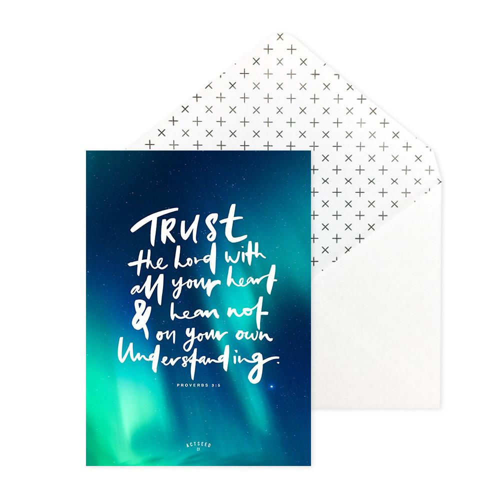 Trust the lord with all your heart Postcard