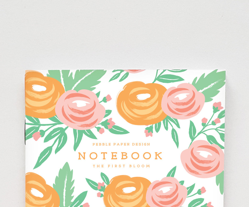 Orange Rose Notebook