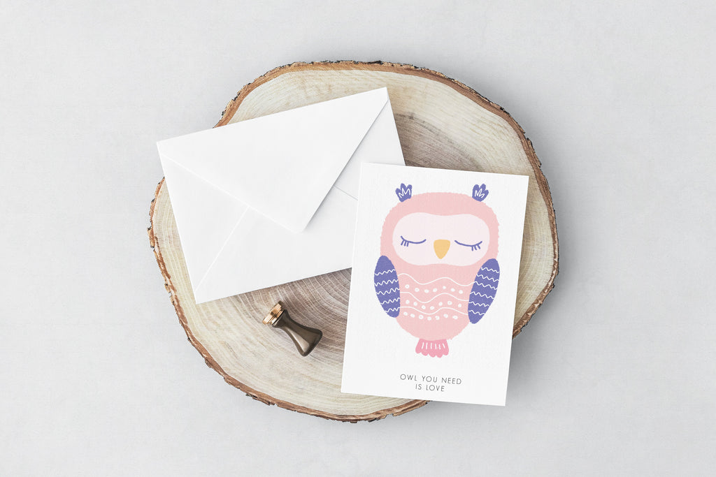 Owl(love) Greeting Card