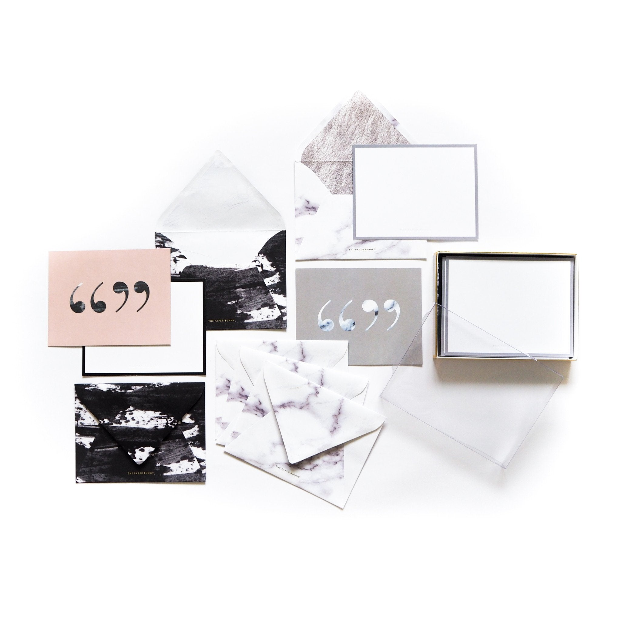 Paint & Marble Notecards