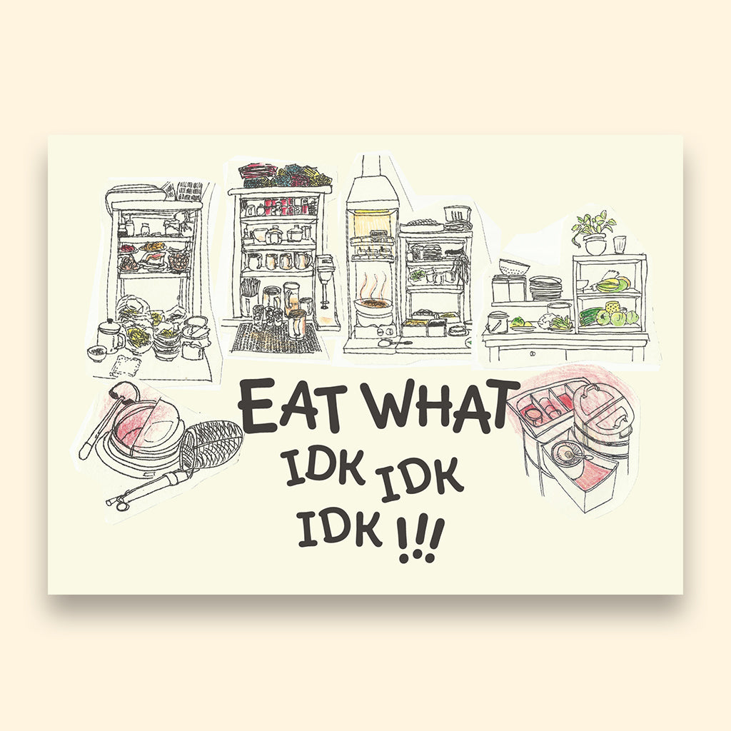 What to Eat Postcard
