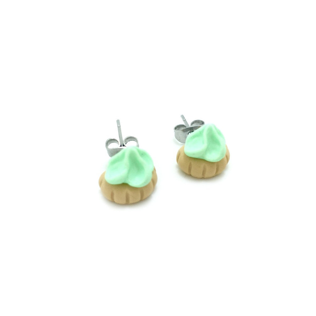 Fancy Gem Halves Ear Studs - Mint