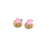Fancy Gem Halves Studs - Pastel Pink