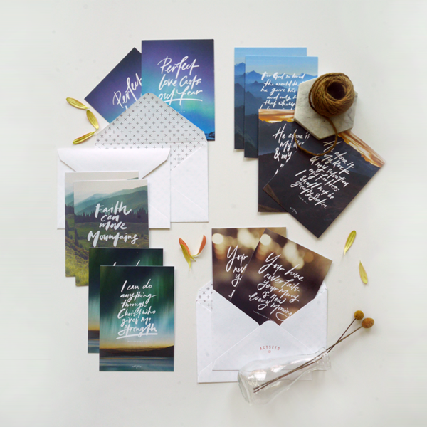 Set of 12 Postcards - For Your Love Never Fails