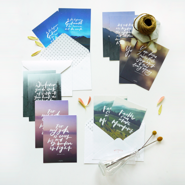 Set of 12 Postcards - Faith Can Move Mountains