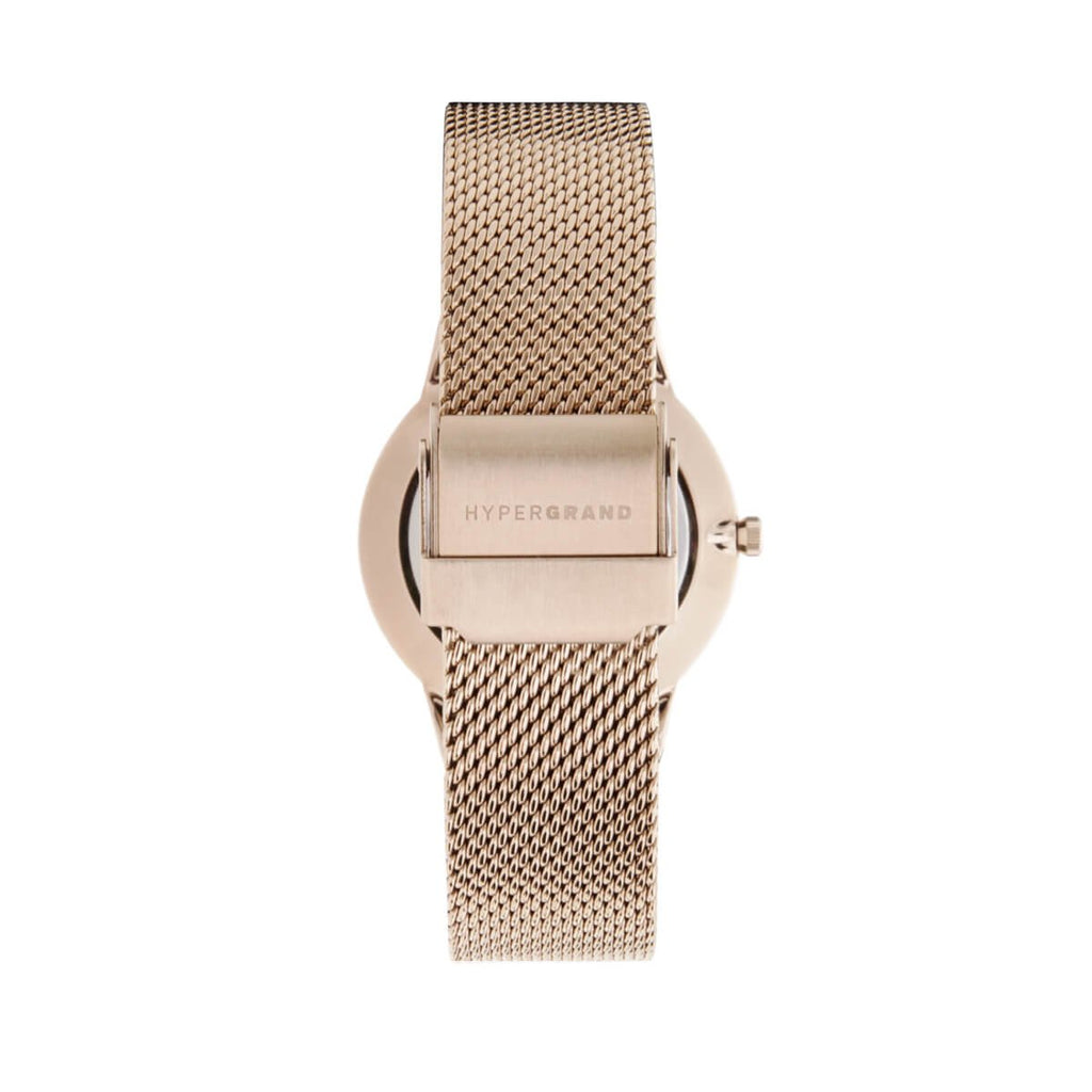 Signature Petite Watch - Rose Gold White w/ Rose Gold Mesh